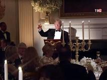 Дональд Трамп с бакалом шампанского