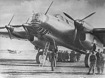 Четырёхмоторный тяжёлый бомбардировщик дальнего действия Пе-8
