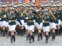 Курсантки Военного университета Министерства обороны РФ