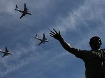 Воздушная часть Парада Победы. Военно-транспортные самолеты Ил-76