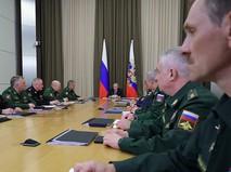Владимир Путин проводит совещание с руководством министерства обороны Российской Федерации