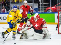 Сборные Швеции и Швейцарии в финале чемпионата мира по хоккею