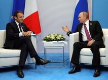 Встреча Владимира Путина и Эмманюэля Макрона