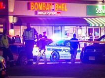 Полиция Канады на месте взрыва в кафе