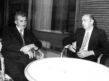 Николае Чаушеску на переговорах