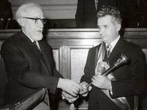 Николае Чаушеску на инаугурации