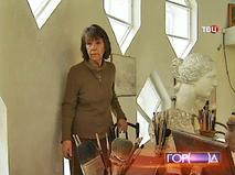 Внучка архитектора Константина Мельникова Екатерина Каринская