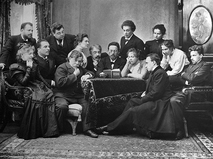А.П. Чехов с артистами МХТ