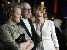 Никита Михалков с дочерьми - Анной и Надеждой