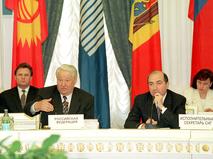 Борис Березовский на заседании Совета глав государств СНГ