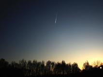 Метеорит над лесом