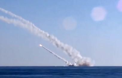 """Пуск крылатых ракет морского базирования """"Калибр"""""""