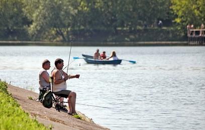 Рыбаки в парке
