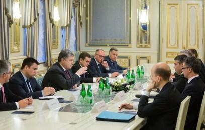 Встреча Петра Порошенко с главой МИД ФРГ Зигмаром Габриэлем