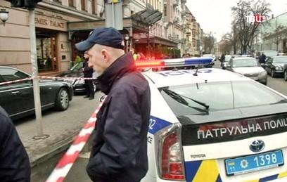 Полиция Украины на месте убийства Дениса Вороненкова в Киеве