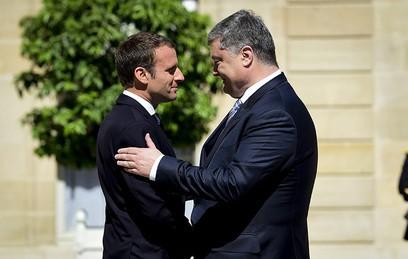 Эммануэль Макрон и Петр Порошенко
