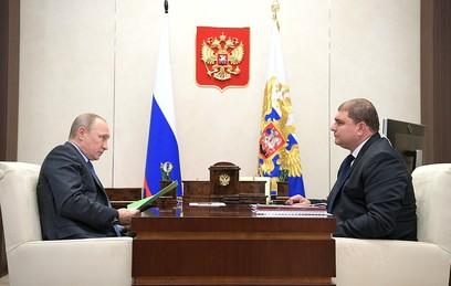 Рабочая встреча Владимира Путина с губернатором Орловской области Вадимом Потомским