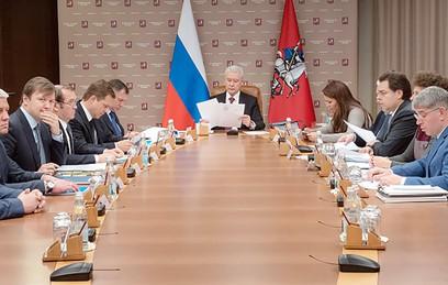 Мэр Москвы Сергей Собянин проводит заседание