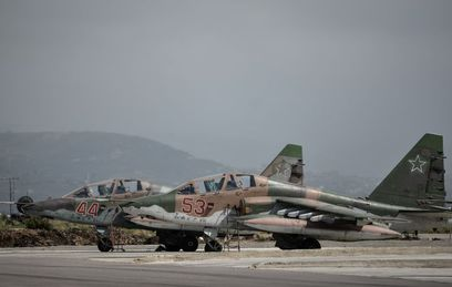 """Штурмовики Су-25 на базе """"Хмеймим"""""""