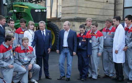 Владимир Путин в Ставропольском аграрном университете