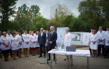 Собянин: В Москве строится крупнейший в Европе Перинатальный центр