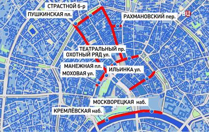В новогоднюю ночь центр москвы