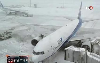 Снегопада в японии стали семь человек