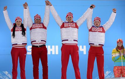Татьяна Иванова, Альберт Демченко, Александр Денисьев и Владислав Антонов (Россия)