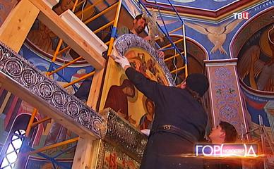 Установка иконостаса в храме св. прав. блж. Матроны Московской