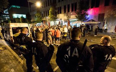 Полиция Германии на месте взрыва в Ансбахе