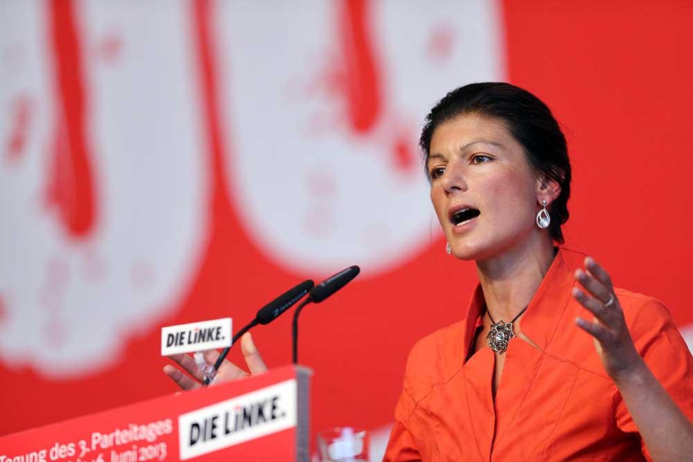 Замредседателя парламентской фракции Левой партии Сара Вагенкнехт