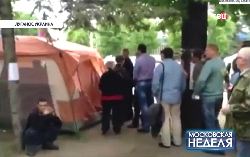 Жители Луганска пришли на референдум