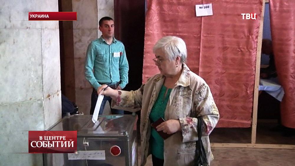Избирательный участок на юго-востоке Украины