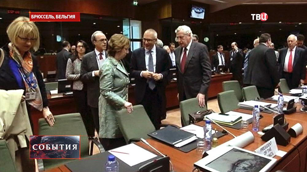 Заседание в штаб-квартире ЕС в Брюсселе