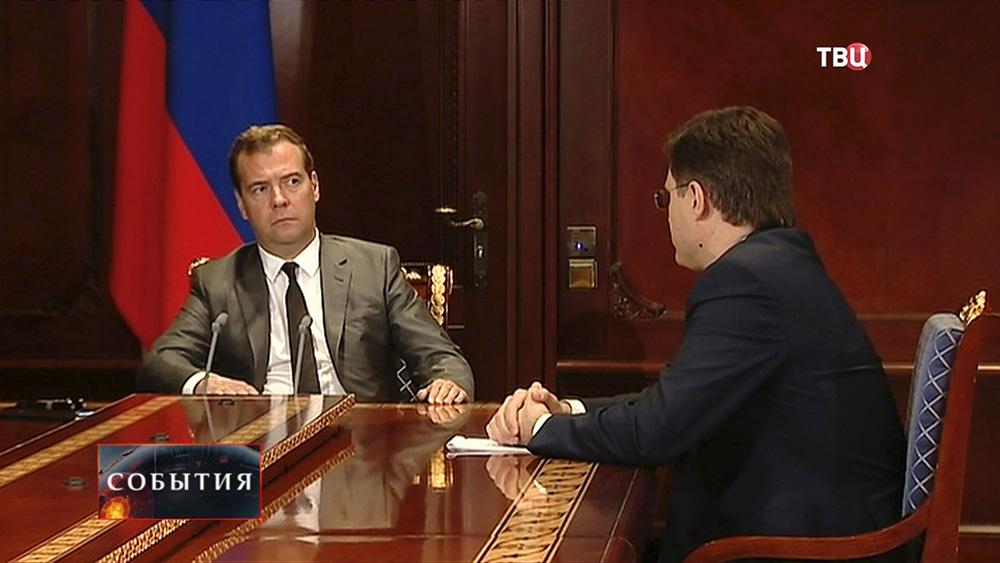 Дмитрий Медведев и министр энергетики Александр Новаков