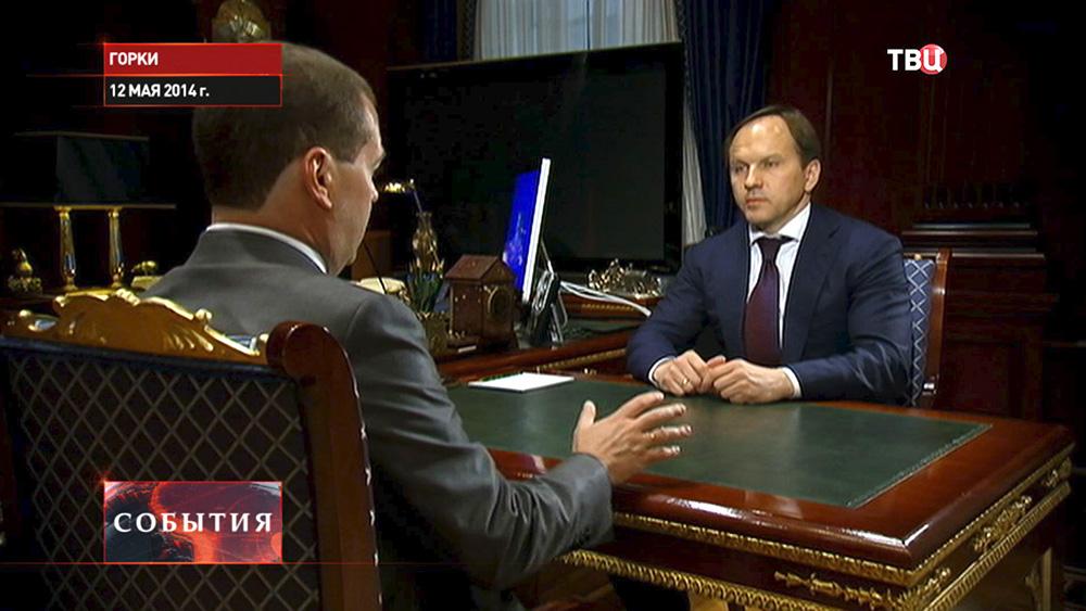 Дмитрий Медведев и глава Министерства по развитию Северного Кавказа Лев Кузнецов