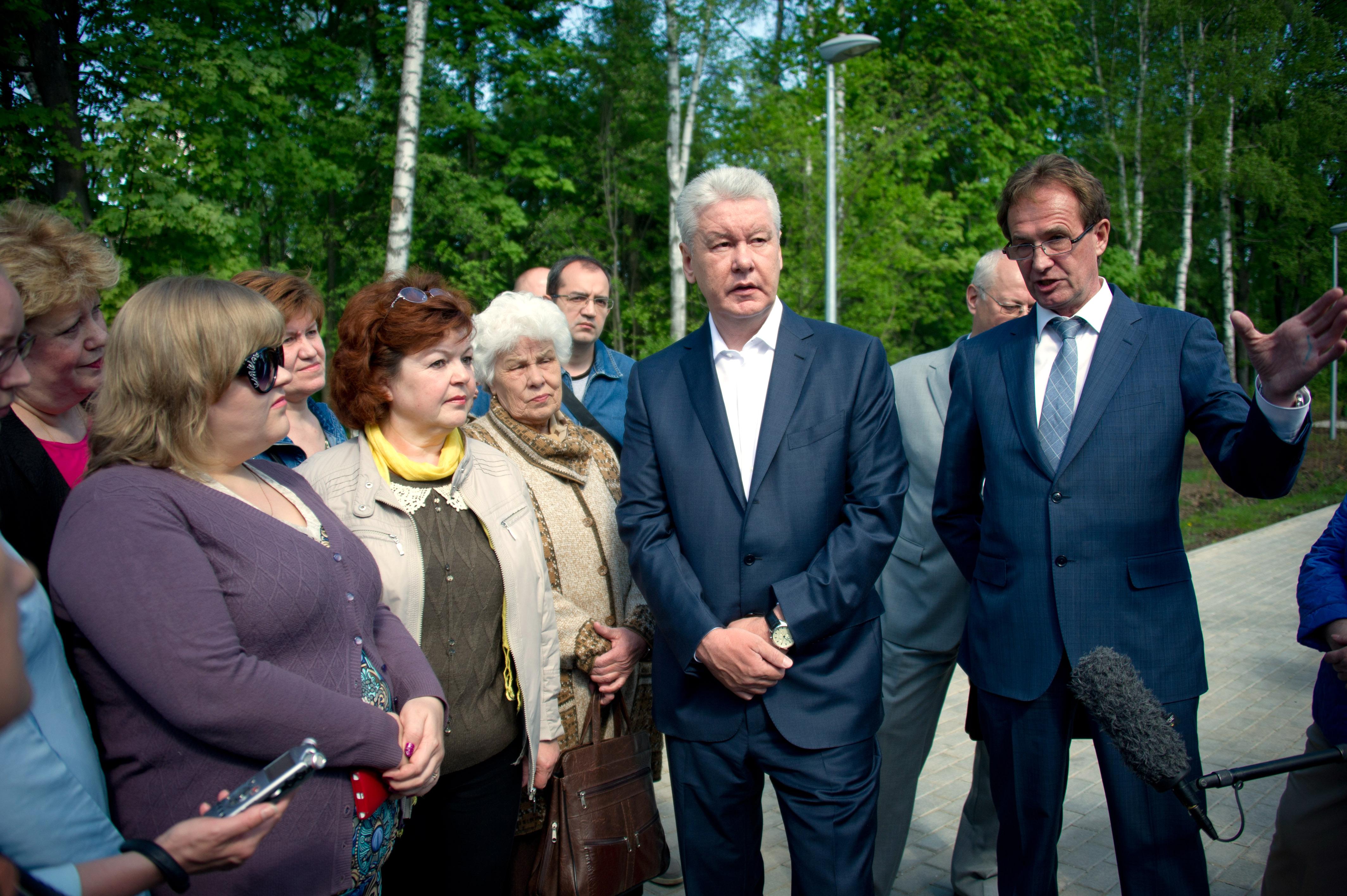 Сергей Собянин посещает Зеленоградский округ города Москвы