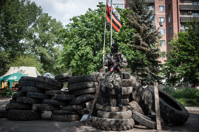 Блокпост в Луганске