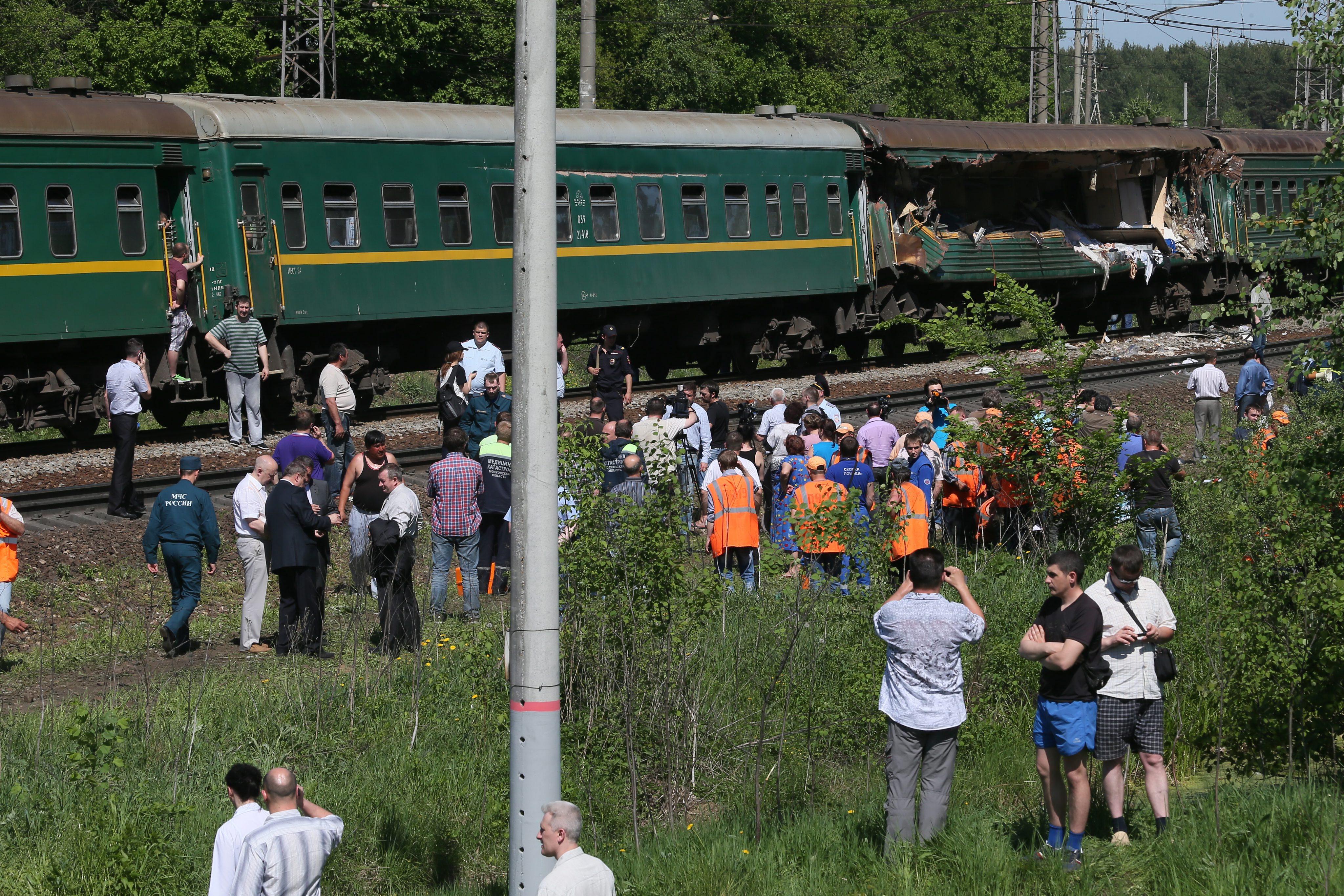 Столкновение поездов в Подмосковье
