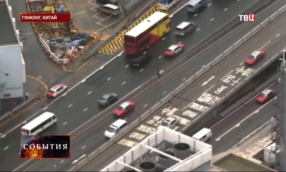 Автомобильное движение в Гонконге