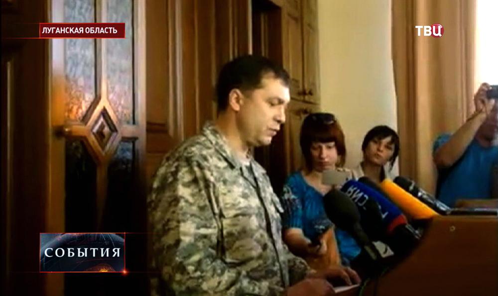 Глава Луганской народной республики Валерий Болотов