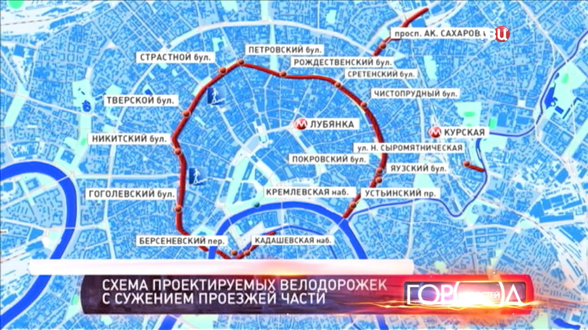 Карта велодорожек