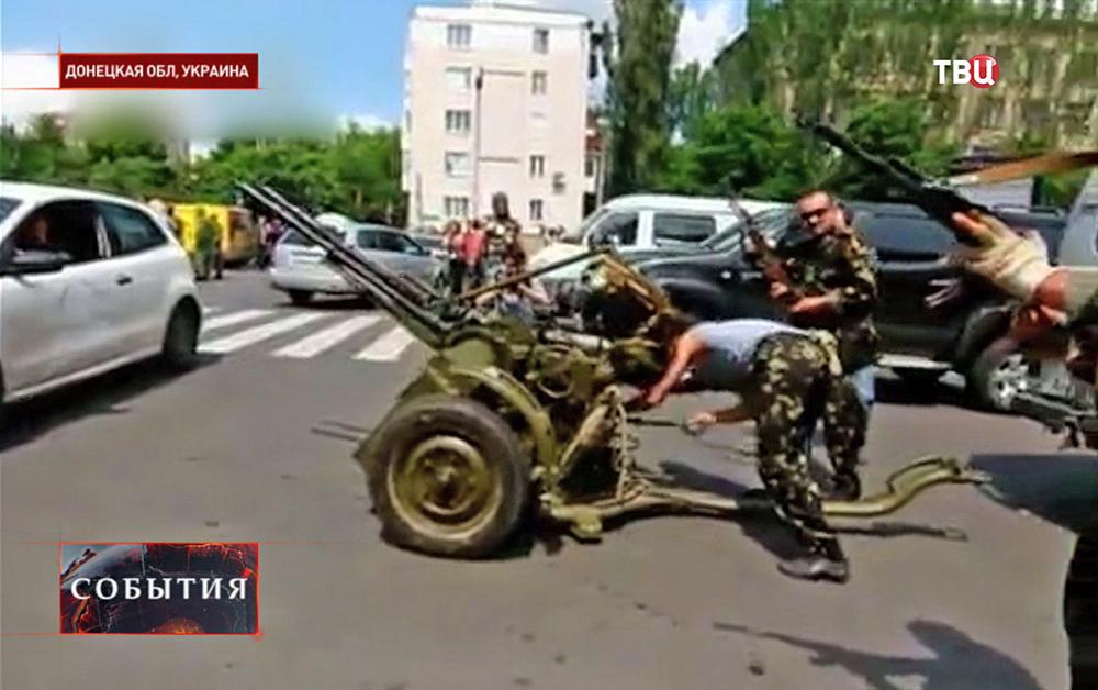 Бойцы ополчения готовятся к штурму в Донецкой области