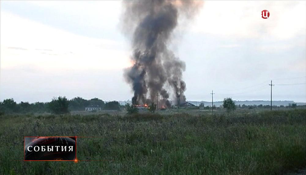 Взрыв под Луганском