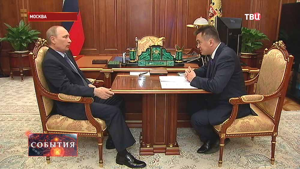 Президент РФ Владимир Путин и Владимир Миклушевский