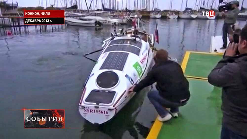 Лодка путешественника Федора Конюхова