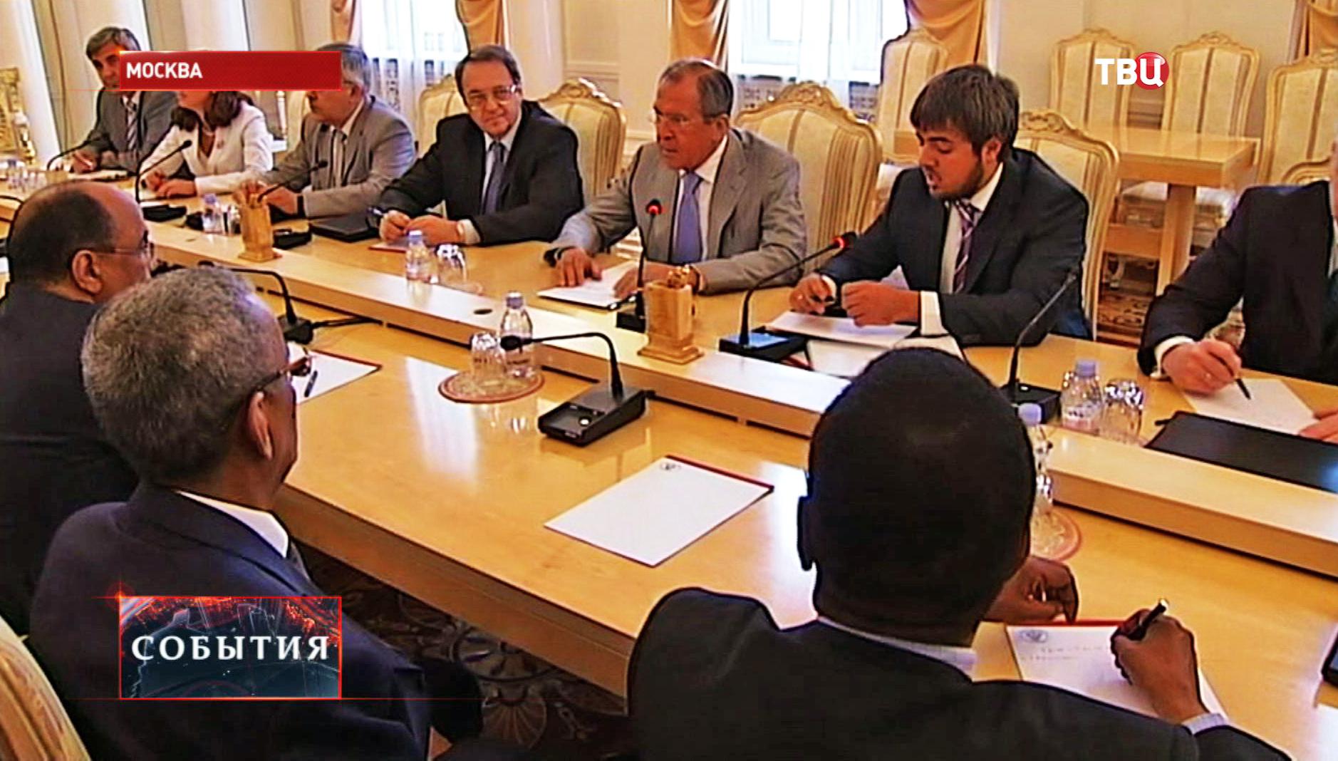 Глава МИД РФ Сергей Лавров во время пресс-конференции