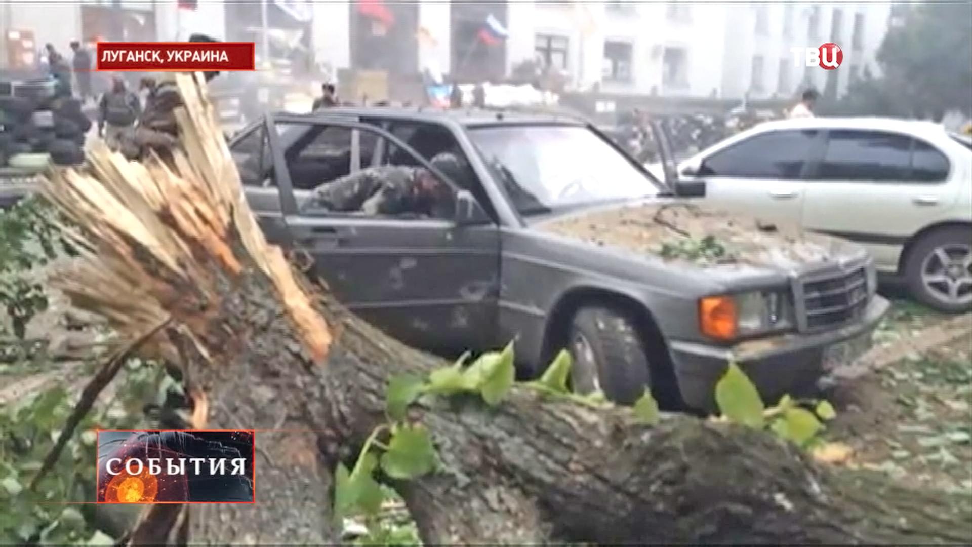 Бои в Луганске