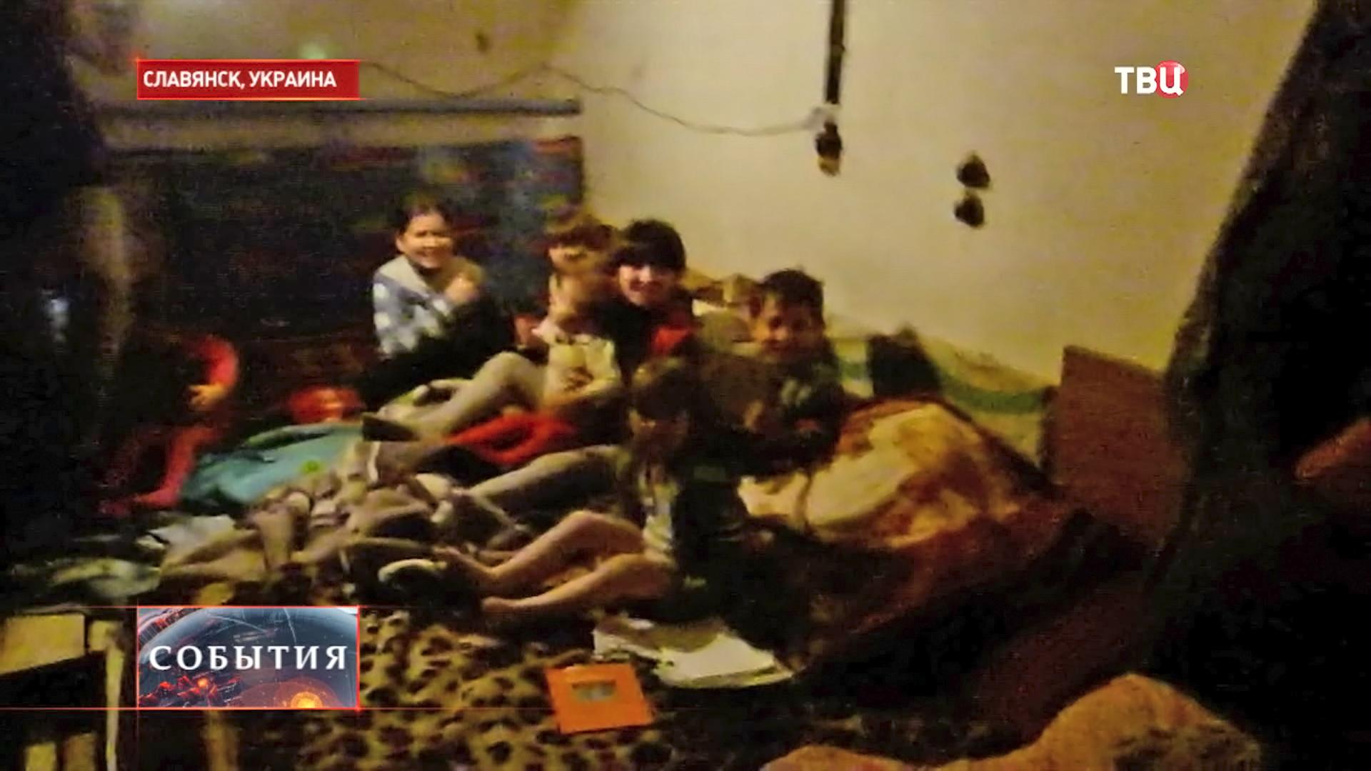 В славянске распяли ребенка фото