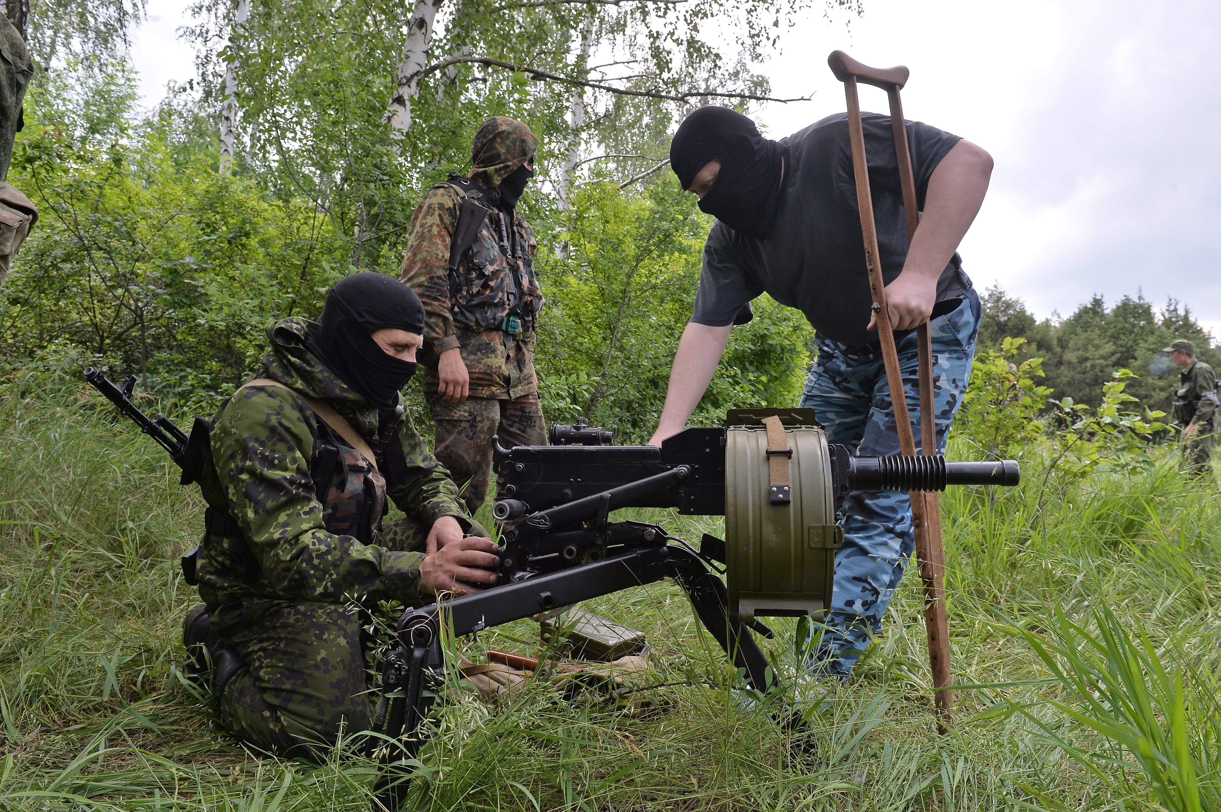 """Бойцы батальона """"Восток"""" в Донецкой области"""